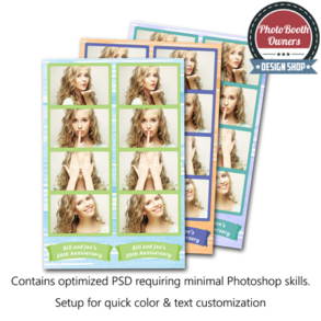 Watercolor Whimsy Photo Strips