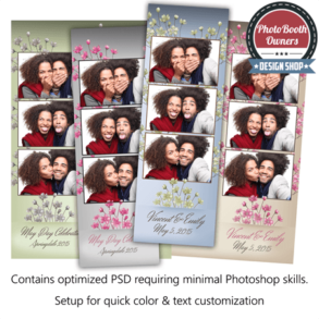 Spring Bouquet 3-up Strips