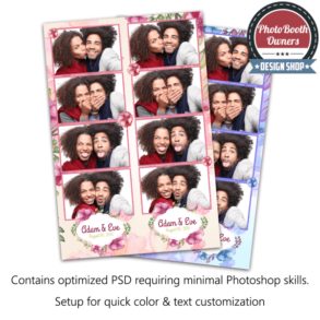 Beautiful VIntage Water Color 4-up Strips