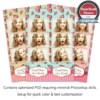 Vintage Shabby Chic 3-up Strips 1