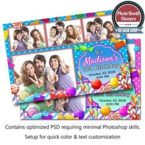 Candy Land Celebration Postcard