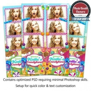 Colorful Candy Land 3-up Strips