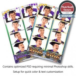 Graduation Time 4-up Strips
