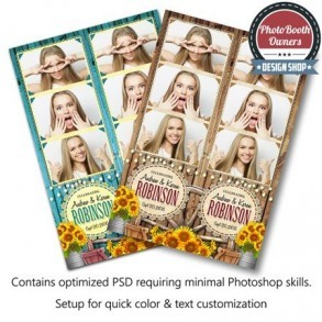 Country Sunflowers 3-up Strips