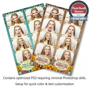Country Sunflowers 4-up Strips