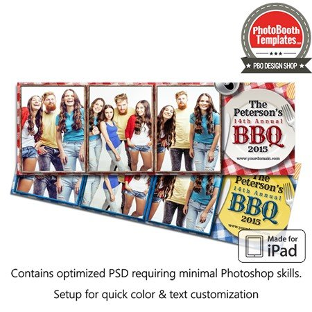 Barbeque Picnic Celebration Postcard (iPad)