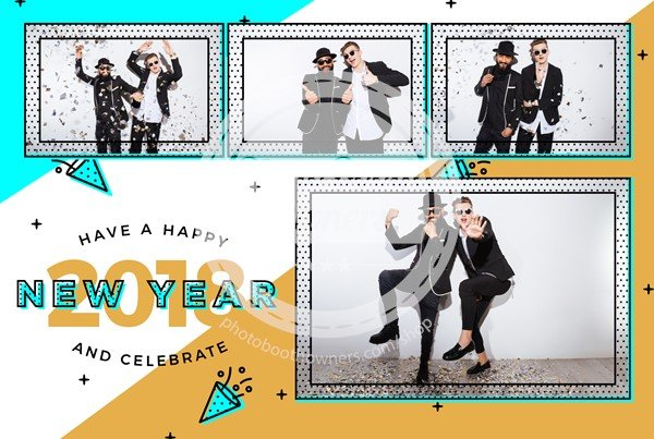 A New Year In Style Postcard