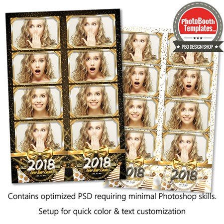 New Year Radiance 4-up Strips