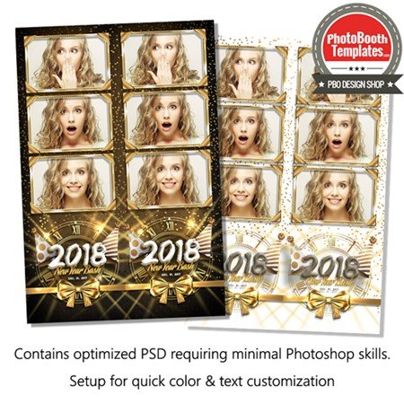 New Year Radiance 3-up Strips
