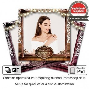 Rustic Wooden Lace Square (iPad)
