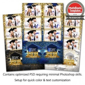 Graduation Glam 3-up Strips