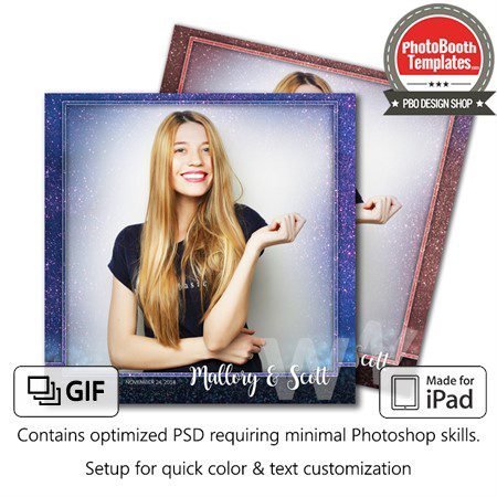 Glitter Canvas Square (iPad) 1
