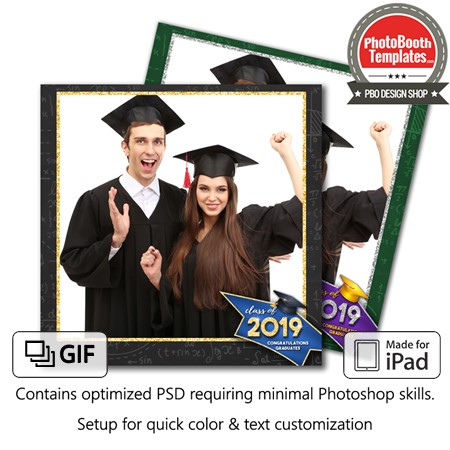 Graduation Glimmer Square (iPad)