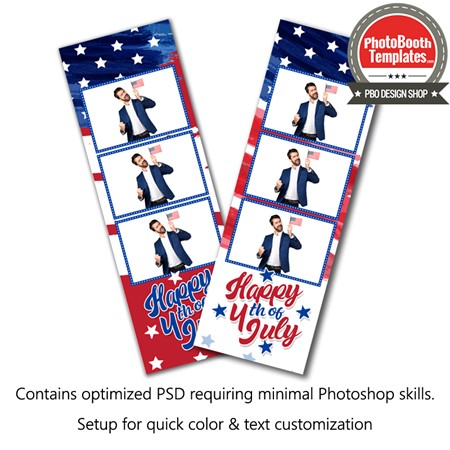 Old Glory 3-up Strips