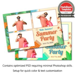 Summer Beach Celebration Postcard