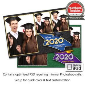 Graduation Glimmer Postcard (iPad)