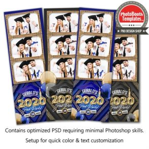 Graduation Balloon Letters 3-up Strips