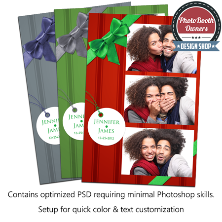 holiday gift portrait photo booth template
