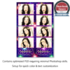 new year fireworks photo booth templates strips