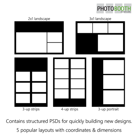 Photo Booth Templates Starter Pack PBO Design Shop - Photo booth design templates
