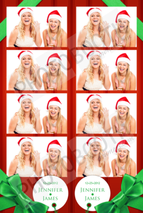 Holiday Gift in Red Photo Strips