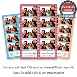 Gingham Photo Strips