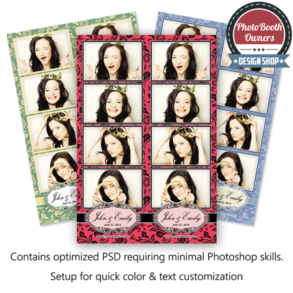 Elegant Rose Wedding Photo Strips