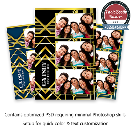Gatsby portrait photo booth templates