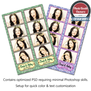 Interlaced Hearts Photo Strips