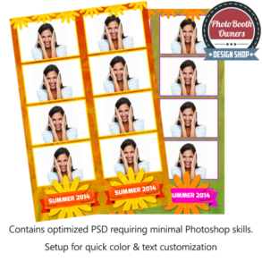 Bold Summer Color Photo Strips