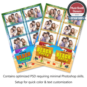 Beach Bash Photo Strips