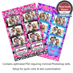 Quinceanera Celebration Photo Strips