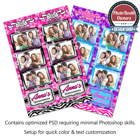 Quinceanera Celebration Photo Strips 1