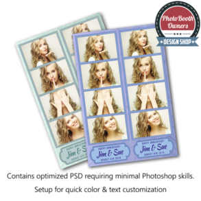 Textured Stripes Photo Strips