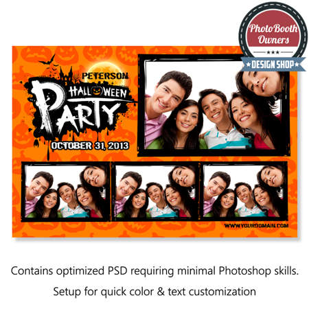 Halloween Party Landscape Photo Booth Template