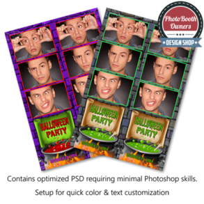 Witch's Cauldron Halloween Celebration Photo Strips