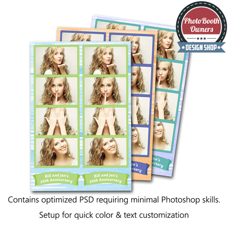 Watercolor Whimsy Photo Strips 1