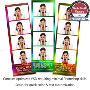 Watercolor Lights Photo Strips