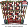 Rustic Holly Holiday Party 4-up Strips 1