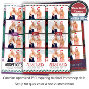 Plaid Poinsettia Photo Strips