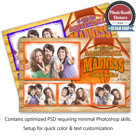 Basketball Madness Postcard 1