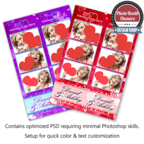 Whispering Hearts Celebration 3-up Strips