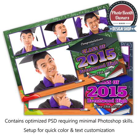 Graduation Party Postcard Photo Booth Template