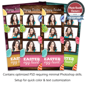 Rustic Easter 3-up Strips