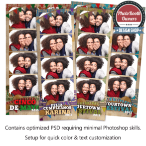 Southwest Celebration 4-up Strips