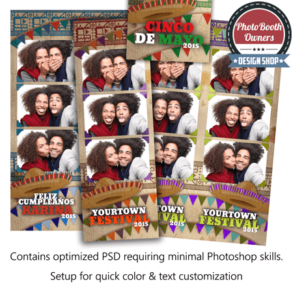 Southwest Celebration 3-up Strips