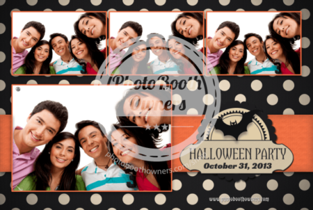Halloween Polka Dots Postcard 2
