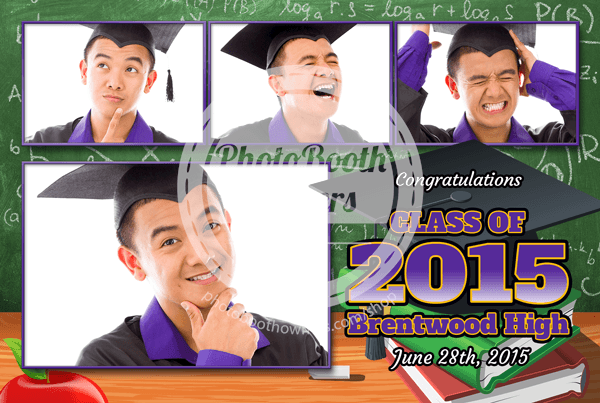 Graduation Party Postcard Photo Booth Template - Graduation postcard template
