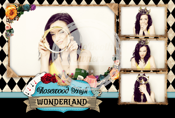 Alice In Wonderland Postcard Photo Booth Template