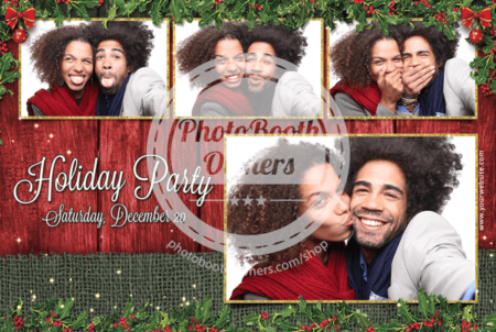 Rustic Holly Holiday Party Postcard